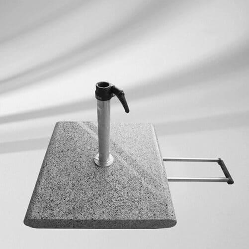 Granitsockel Z 55kg Rollen Handgriff